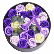 Valentine's Day gifts, 21 rose soaps, round gifts, Christmas gifts, Halloween gifts,Violet