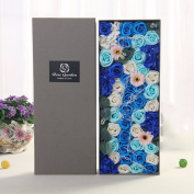 Gift boxes, handmade soap, flowers, roses, ideas, Valentine's day, Christmas, birthday present,blue