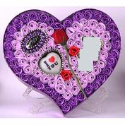 Purple soap, flower gift box, rose, Valentine's Day gift, creative Christmas, girlfriend