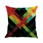 Abstract Art Geometry Cushion Cover, Indexp Thinker Quiet Rest Sofa Home Throw Pillow Case