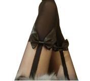 Polo honey Harnessed bowknot fake high tube stitching fake thigh pantyhose socks knee stockings