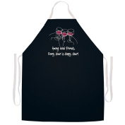 "Attitude Aprons Fully Adjustable ""Among Good Friends, Every Hour Is Happy Hour"" Apron-Black"