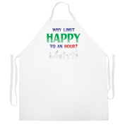 """""""Why Limit Happy"""" Apron-Natural"""