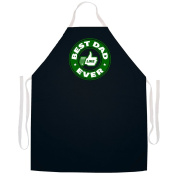 "Attitude Aprons Fully Adjustable ""Best Dad Ever"" Apron-Black"