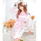 Viskey Sexy Lingerie Sleepwear Nightdress Babydoll,pink,lace sleeve
