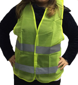 Yellow High Visibility Safety Vest with Reflective Banding Waistcoat Work wear Jacket Only Adult Size