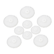 Newest Useful 58 Pcs White Plastic Gears Module Robot Parts Accessories For DIY