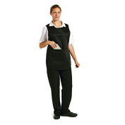 Whites Chefs Apparel B046-1 Tabard with Pocket, Black