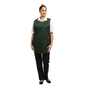 Whites Chefs Apparel B041-2 Tabard with Pocket, Forest Green