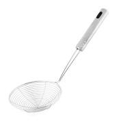 DealMux Metal Wire Spiral Mesh Kitchen Frying Skimmer Strainer Filter Ladle 15cm Dia