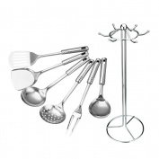OUNONA Kitchen Tool Set Utensil Cookware Set Stainless Steel Cooking Tools Utensils Spoon Utensil 7 PCS