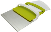 Silicone Gold Cutter, Dustpan and Spatula 3 in 1, STEEL, Green, 14.7 x 12.8 x 3 cm