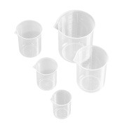 5 PCS Transparent Measuring Cup with Accurate Scales for Household Home Kitchen Laboratory 50ml 100ml 150ml 250ml 500ml