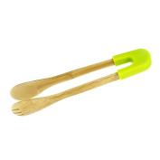 Ya Jin Natural Bamboo Kitchen Food Tongs Bread Clip Clamp Tools 30cm