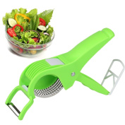Dricar Salad Scissors, 2-in-1 Multi-functional Kitchen Scissors, Salad Chopper with Stainless Steel Blade for Vegetable Fruit Slicing, Salad Making, Cooking