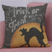 Zantec Car Back Cushion Covers Bat Pumpkin Linen Decorative Cushion Cover Home Sofa Cushion Cover 45 * 45 tipper b