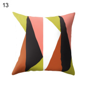 Geometry Pattern Print Pillow Case Bed Waist Cushion Cover Cafe Home Decor