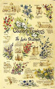 Country Flowers Of The Lake District Tea Towel