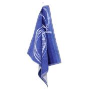 Line Blue Terry Kitchen Tea Towel 50 x 50 cm