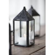 Black Mini Triangular Top Hanging Lantern / Pillar Candle Holder Ib Laursen