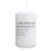 Personalised Girlfriend Definition Candle
