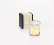 Ritzenhoff Glass Aroma Naturals Luxury Scented Candle, Black, Yellow, 7 x 7 x 8 cm