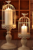 Kingken 1 Pc Practical Birdcage Iron Candlestick Candle Holder for Wedding Decoration