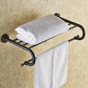The copper bronze Black high-grade towel rack European Black towel toilet bathroom