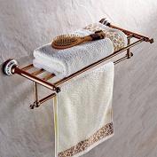 Bath towel rack Rose Gold copper towel rack bathroom shelf Pendant