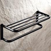 Bath towel rack hand drawing copper Black towel rack bathroom shelf Pendant