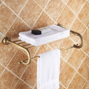 Antique drawing towel rack European bathroom towel rack carved metal pendants