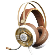 MagiDeal Stereo Gaming Noise-cancelling Wired Headset Headphone W/Mic for PS4 Laptop Phone Gold