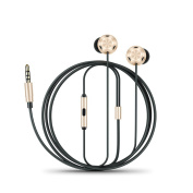 D2 Metal Durable Bass Stereo In-Ear Headphone Magnetic Earphone Earburds for iOS Android