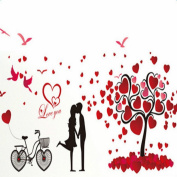 Da.Wa Wall Stickers Couple Background Decoration Stickers Removable Self-Adhesive Mural Art Decals