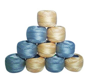 10 Anchor Pearl Cotton Balls / Size 8 (85 Metres each) / 10 Coloured Crochet Cotton Thread-10gm Per Ball- Knitting, Lacey Craft- 85 Metres