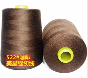 6000 Yards Coffee Brown Reel 20s 2 202 Tex 60 Tickets Size 50 Spools Polyester PP SP Sewing Thread Hand Machine industrial Embroidery Yarn Quilting Serger Clothes Jeans Canvas Oxford Cloth Leather