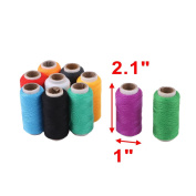 sourcingmap® Tailor Lady Polyester Handicraft DIY Clothes Sewing Thread Spool Reel 10 Pcs