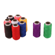 sourcingmap® Polyester Handicraft DIY Clothes Sewing Thread Spool Reel 10 Pcs Assorted Colour