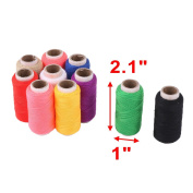 sourcingmap® Home Tailor Polyester Handicraft DIY Clothes Sewing Thread Spool Reel 10 Pcs