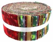 Fabric Freedom Christmas Stars Freedom Roll, 100% Cotton, Multicoloured, 13 x 13 x 7 cm