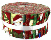 Fabric Freedom Vintage Father Christmas Freedom Roll, 100% Cotton, Multicoloured, 13 x 13 x 7 cm