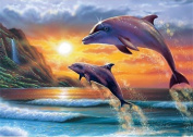 5D Diamond Painting Kit DIY Rhinestone Embroidery Cross Stitch Arts Craft For Home Wall Decor 11.8*15.7 inch (30*40 cm) Dolphin