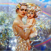 5D Diamond Painting Kit DIY Rhinestone Embroidery Cross Stitch Arts Craft For Home Wall Decors 11.8*11.8 inch (30*30cm) .Mother and Baby
