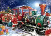 Christmas 5D Diamond Painting DIY Diamond Painting Embroidery Cross Crafts Stitch DIY Kits Home Decor 5D Diamond Rhinestone Pasted Embroidery Painting Cross Stitch Christmas Train Pattern