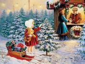 HUHU833 5D Diamond Painting Christmas Snowman Embroidery