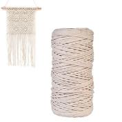Natural Cotton Cord 3 mm Bohemia Macrame Craft Cord Rope DIY Macrame Wall Hanging String