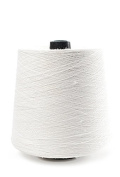 Flaxen Europe 100% Linen Yarn Cone - 2.700 metres - 12x12x16 cm - 0,5 KG (1 LBS) - Twisted from 3 PLY - Bright White - Pure Flax Thread For Hand and Machine Sewing, Weaving, Crochet, Embroidering