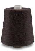 Flaxen Europe 100% Linen Yarn Cone - 2.700 metres - 12x12x16 cm - 0,5 KG (1 LBS) - Twisted from 3 PLY - Dark Brown Colour - Pure Flax Thread For Hand and Machine Sewing, Weaving, Crochet, Embroidering