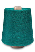 Flaxen Europe 100% Linen Yarn Cone - 2.700 metres - 12x12x16 cm - 0,5 KG (1 LBS) - Twisted from 3 PLY - Bright Green Colour - Pure Flax Thread For Hand and Machine Sewing, Weaving, Crochet, Embroidering