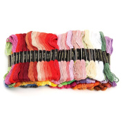 Dreammy 50 Mixed Colours Cotton Embroidery Thread Sewing Kit